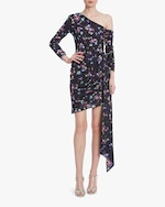 One33 Social Floral One-Shoulder Cocktail Dress 0