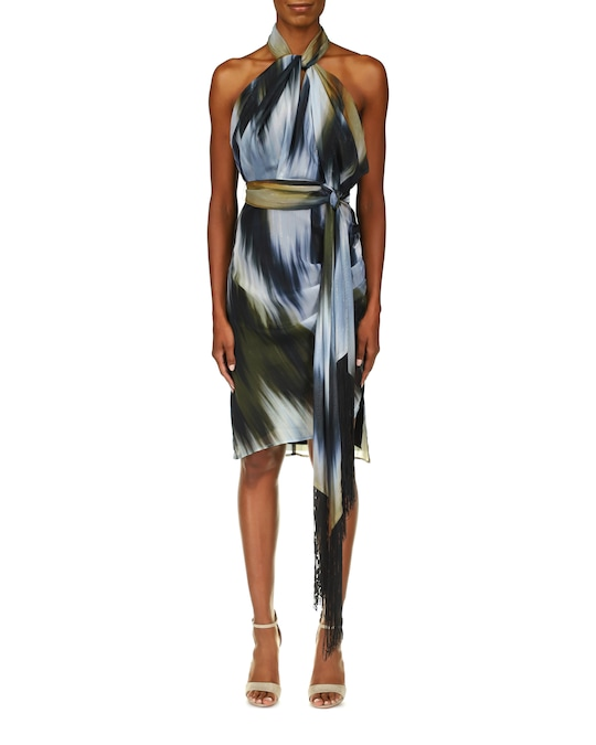 One33 Social Ikat Halter Dress 0