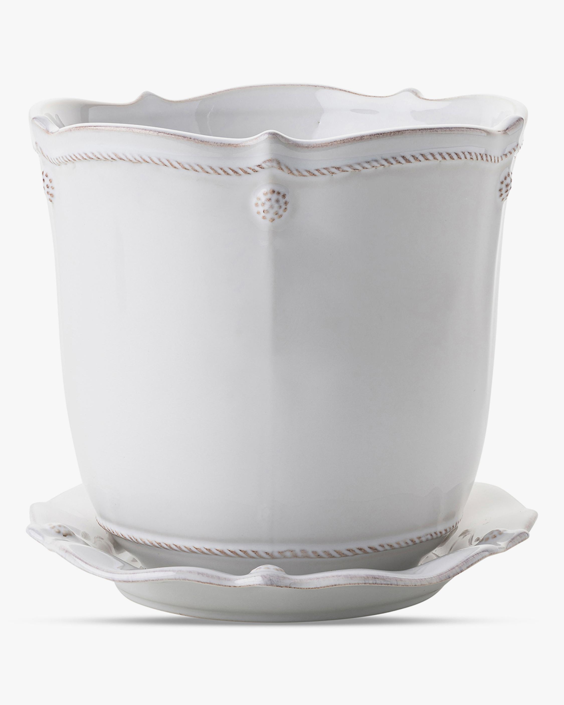 Juliska Berry & Thread Whitewash Planter & Saucer - 7in 0