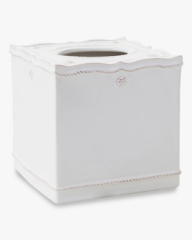 Juliska Berry & Thread Whitewash Tissue Box Cover 1