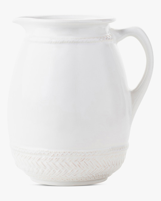 Juliska Le Panier Whitewash Pitcher 0