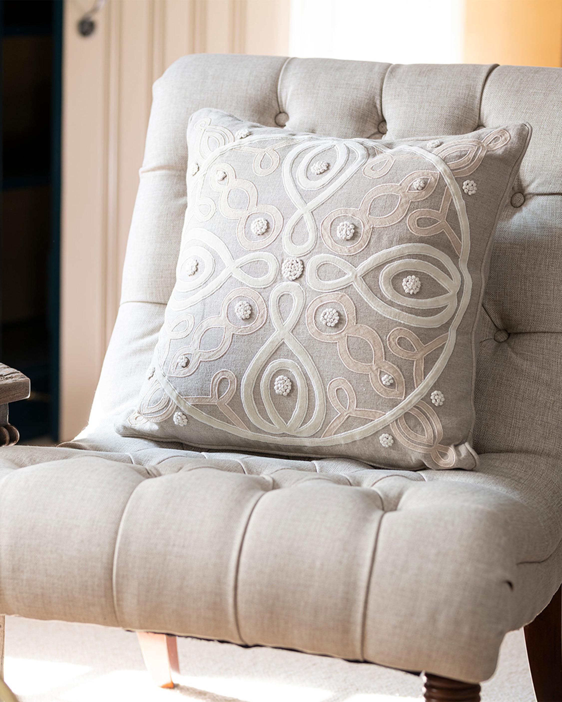 Juliska Berry & Thread Natural Throw Pillow - 18in 1