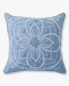 Berry & Thread Chambray Throw Pillow - 22in
