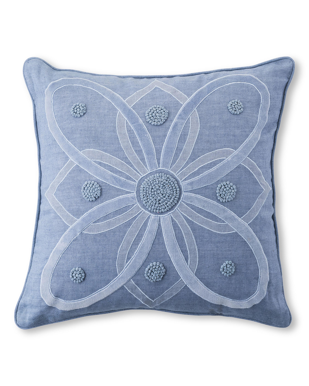 Juliska Berry & Thread Chambray Throw Pillow - 18in 0