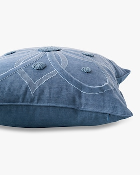 Berry & Thread Chambray Throw Pillow - 18in