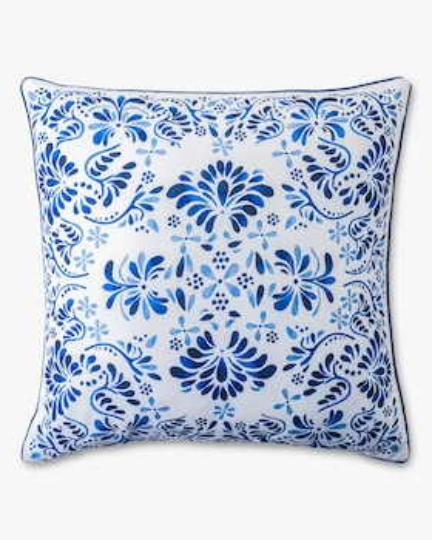 Iberian Journey Indigo Throw Pillow