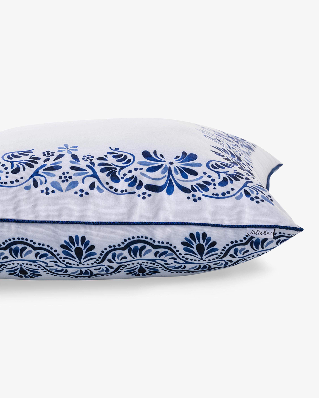 Juliska Iberian Journey Indigo Border Throw Pillow 1