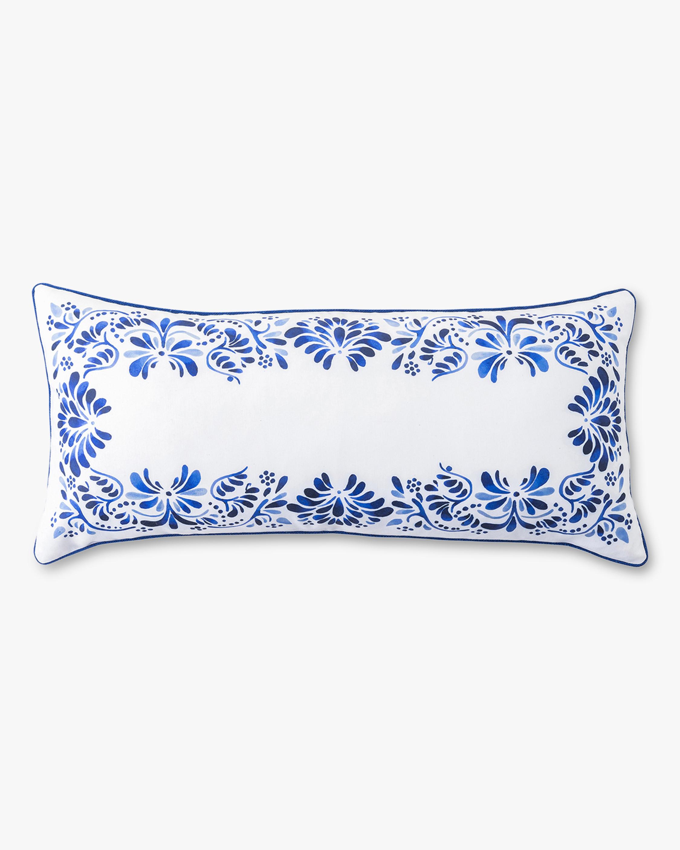 Juliska Iberian Journey Indigo Lumbar Pillow 0