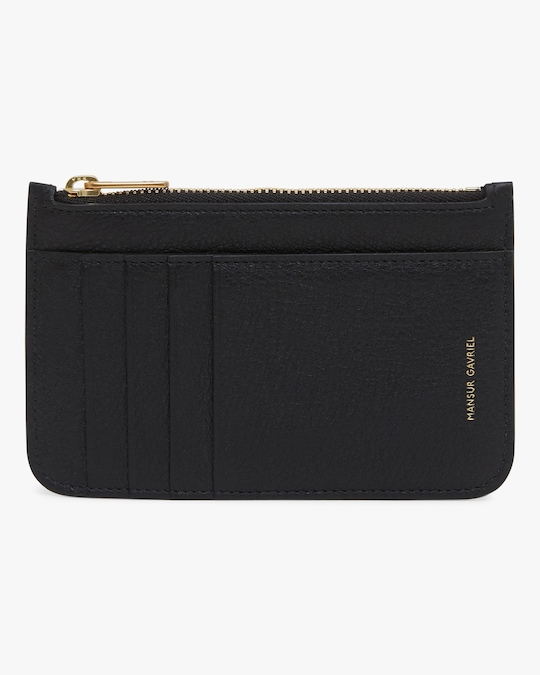 Mansur Gavriel Black Flamma Zip Card Holder 0