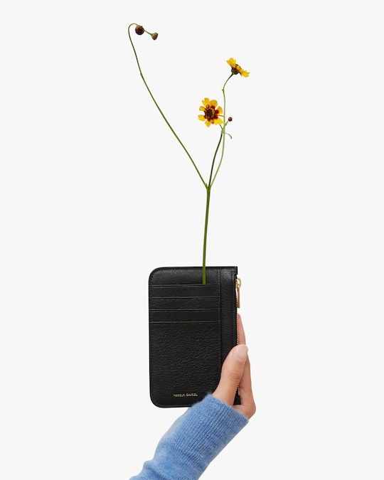 Mansur Gavriel Black Flamma Zip Card Holder 1