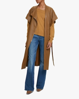 Dorothee Schumacher Exciting Coolness Leather Coat 2