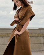 Dorothee Schumacher Exciting Coolness Leather Coat 4