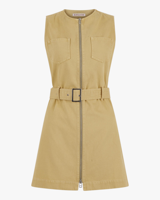 ALEXACHUNG Boxy Denim Dress 2
