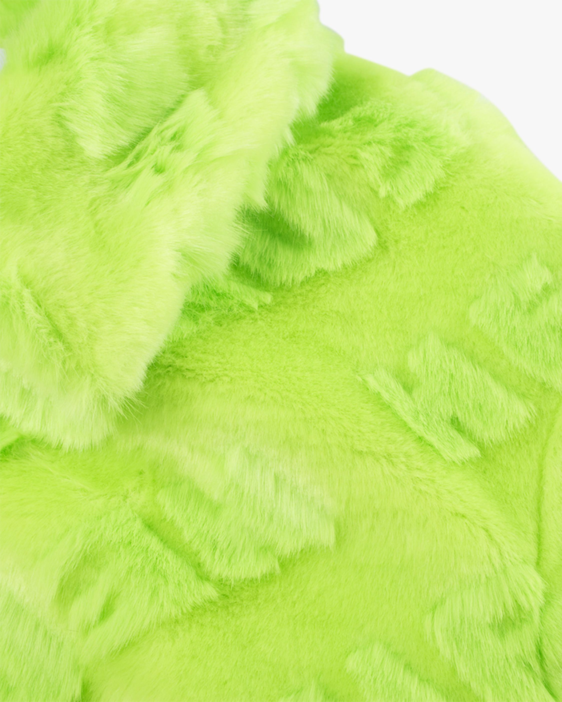 HEURUEH Logo High-Low Faux Fur Coat 3