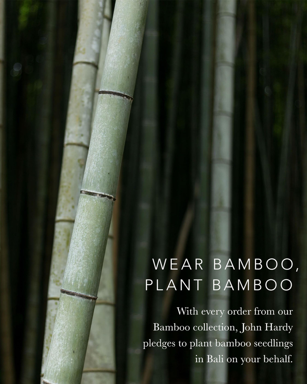 John Hardy Bamboo Silver Hoop Earrings 4
