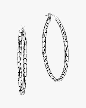 John Hardy Classic Chain Silver 41mm Hoop Earrings 1