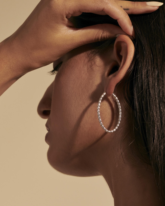 John Hardy Classic Chain Silver 41mm Hoop Earrings 2