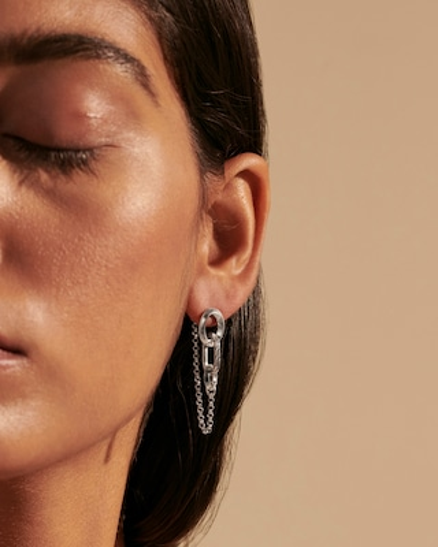John Hardy Classic Chain Silver Earrings 2