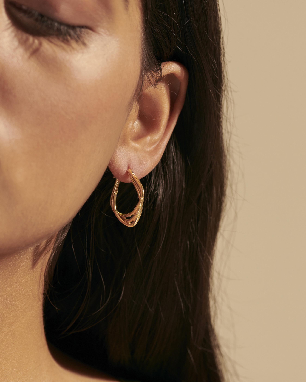 John Hardy Bamboo 18K Gold Hoop Earrings 2