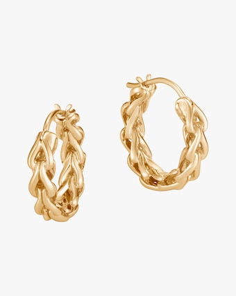 John Hardy Classic Chain Asli Link Hoop Earrings 1