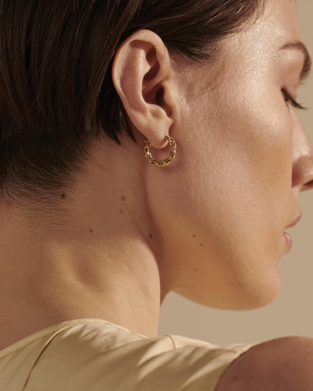 Classic Chain Asli Link Hoop Earrings