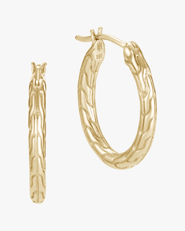 John Hardy Classic Chain 18K Gold 20mm Hoop Earrings 0
