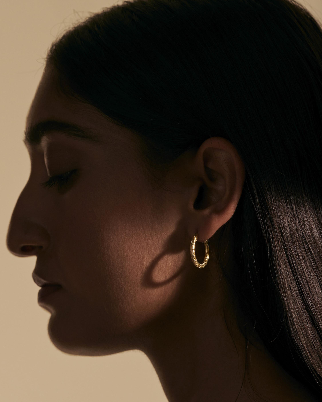 John Hardy Classic Chain 18K Gold 20mm Hoop Earrings 2