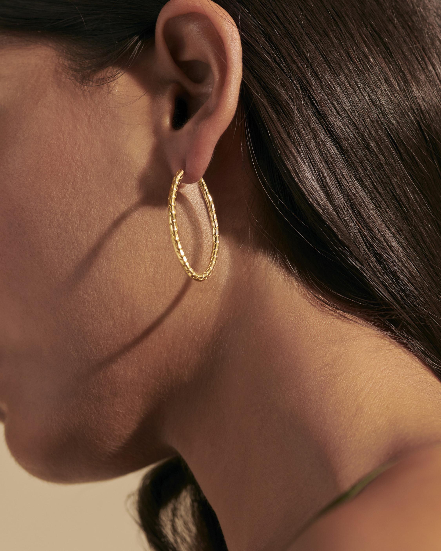 John Hardy Classic Chain 18K Gold 41mm Hoop Earrings 1