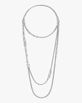 Convertible Classic Chain Silver Necklace