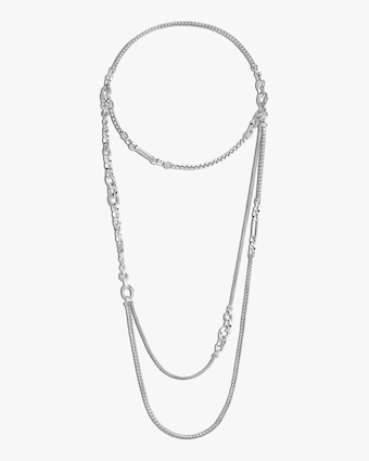 John Hardy Convertible Classic Chain Silver Necklace 1