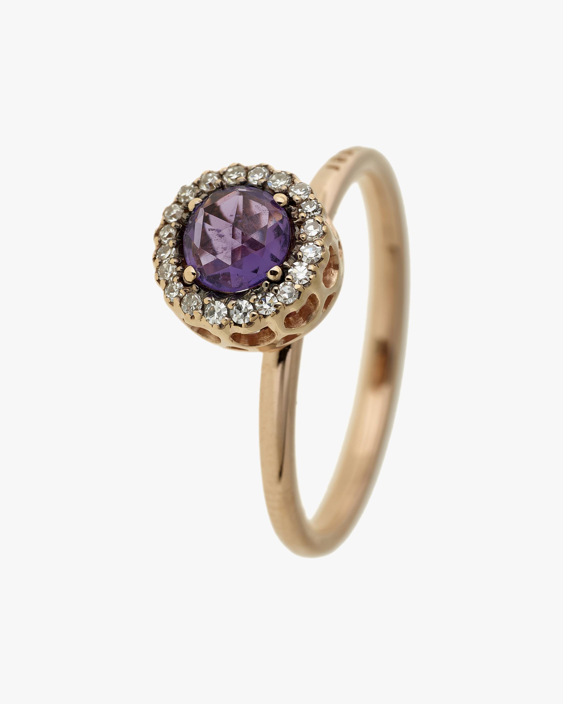 Selim Mouzannar Diamond & Amethyst Round Ring 0