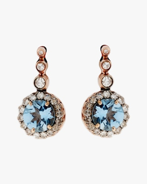 Selim Mouzannar Diamond & Aquamarine Drop Earrings 2