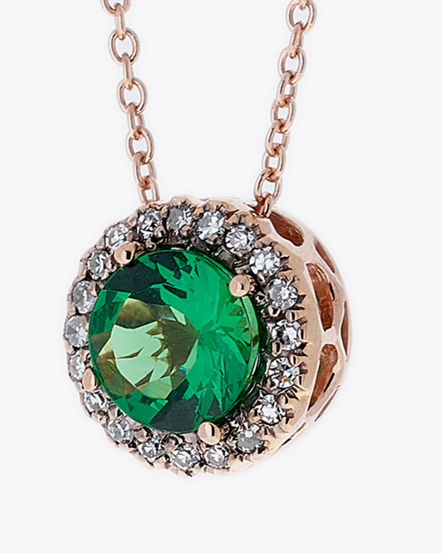 Selim Mouzannar Diamond & Tsavorite Pendant Necklace 1