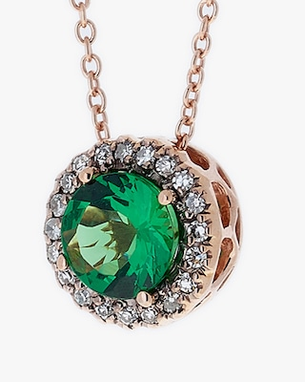 Selim Mouzannar Diamond & Tsavorite Pendant Necklace 2