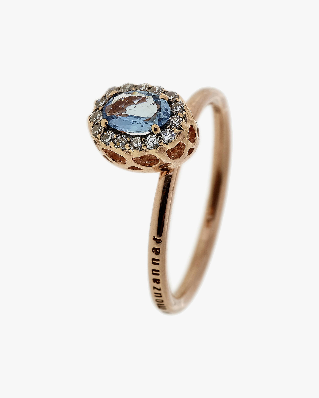 Selim Mouzannar Diamond & Aquamarine Round Ring 1