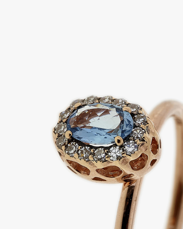 Selim Mouzannar Diamond & Aquamarine Round Ring 2