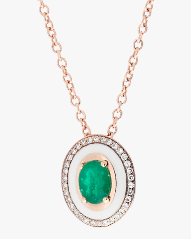 Selim Mouzannar Diamond & Emerald Pendant Necklace 1