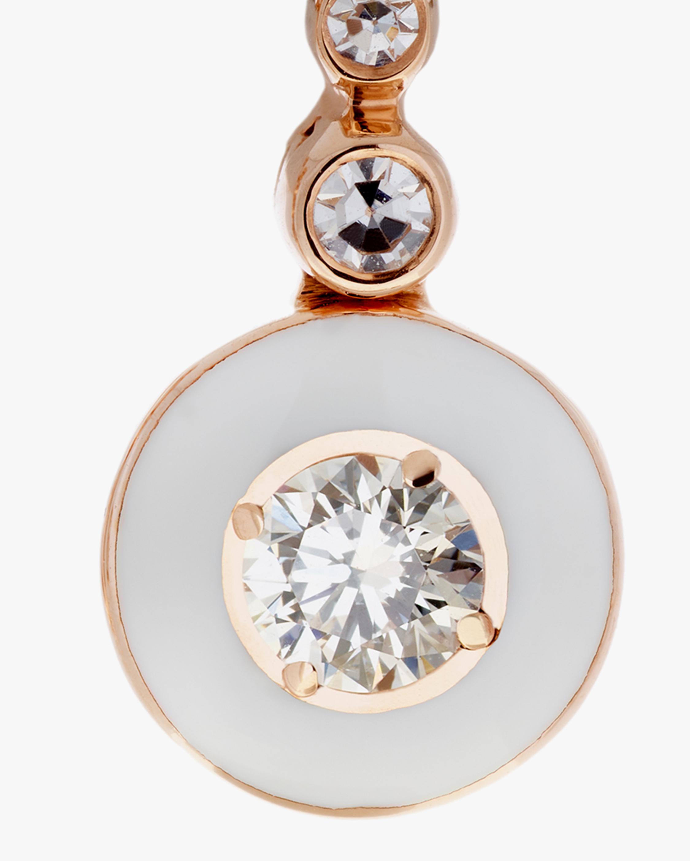 Selim Mouzannar Diamond & Ivory Enamel Drop Earrings 1