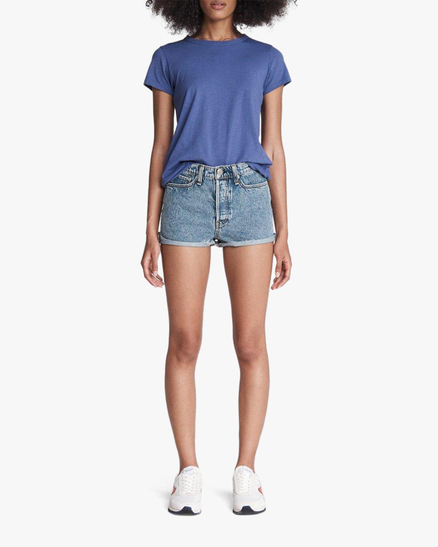 rag & bone Maya High-Rise Shorty Shorts 0