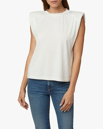 Hudson Shoulder Pad Sleeveless Tee 1