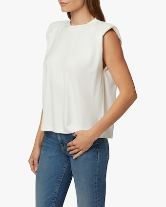 Hudson Shoulder Pad Sleeveless Tee 2