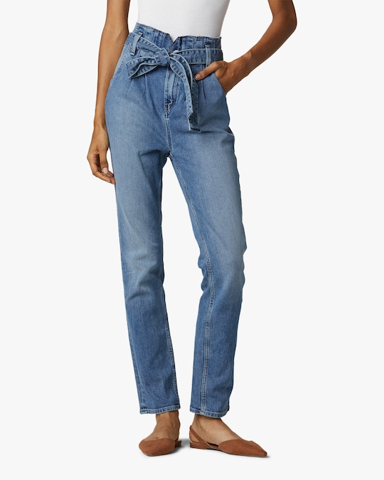 Hudson Remi High-Rise Paperbag Straight Jeans 0