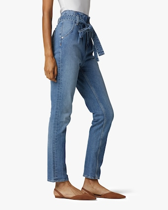 Hudson Remi High-Rise Paperbag Straight Jeans 2