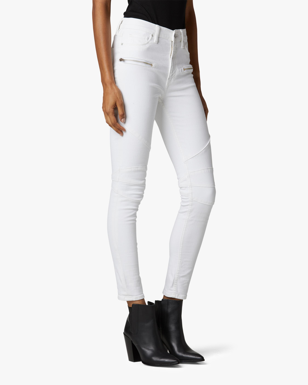Hudson Barbara High-Waist Super Skinny Ankle Moto Jeans 2