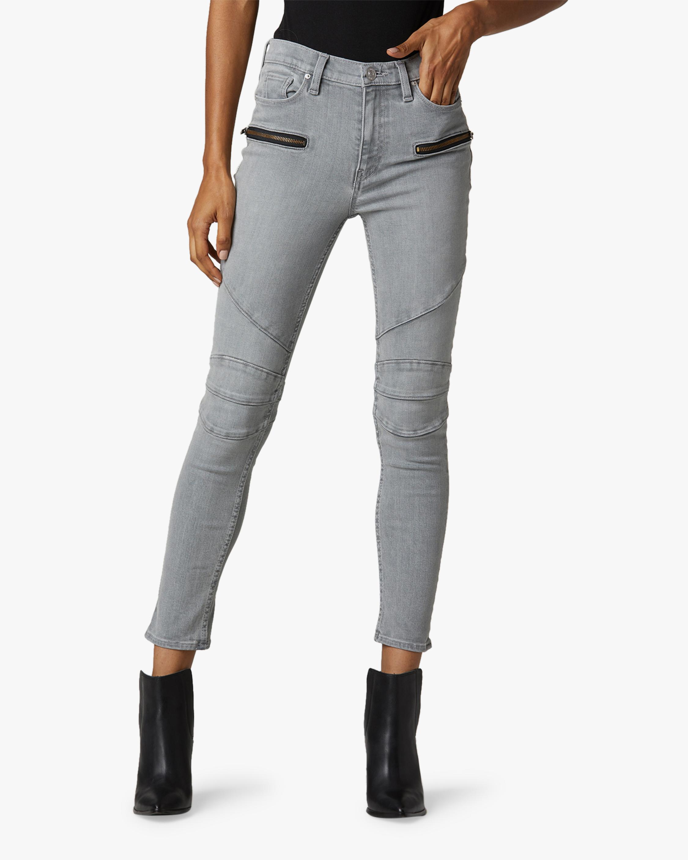 Hudson Barbara High-Rise Super Skinny Ankle Moto Jeans 0