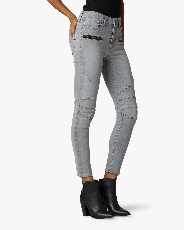 Hudson Barbara High-Rise Super Skinny Ankle Moto Jeans 1