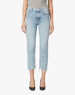 Hudson Remi High-Rise Straight Cropped Jeans 0