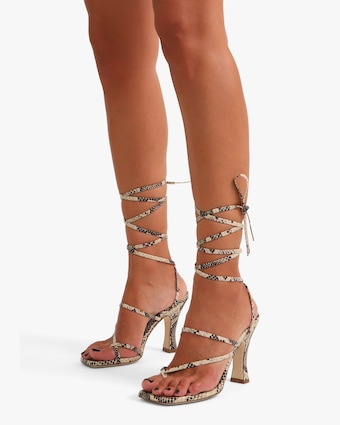Paris Texas Mirta Lace Up Thong Sandal 2