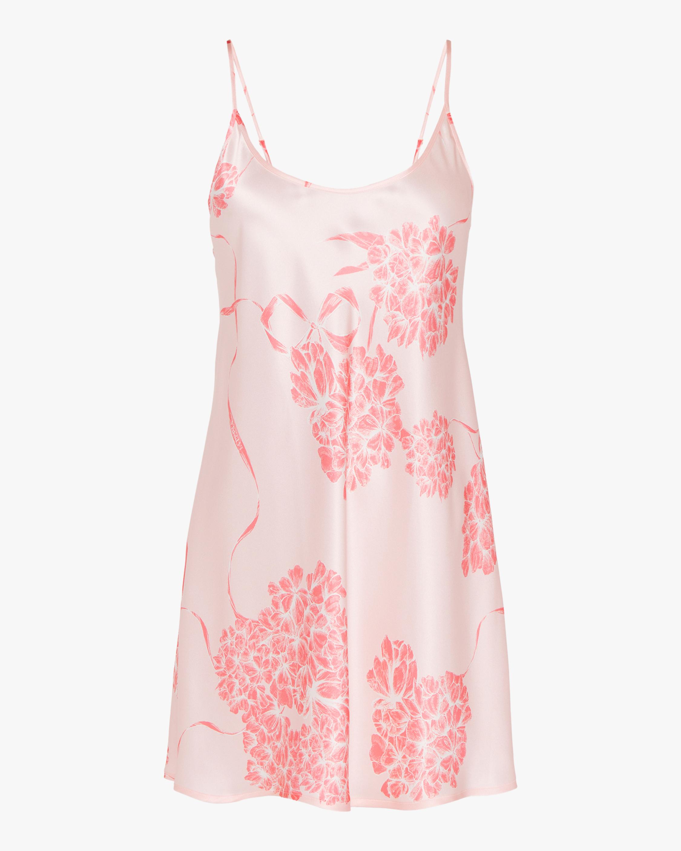 La Perla Floral Silk Short Slip Dress 0