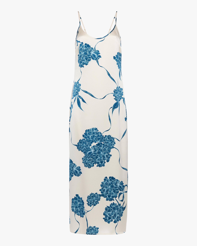 La Perla Floral Silk Long Slip Dress 0